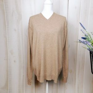 Patagonia Tan V Neck Cashmere Sweater